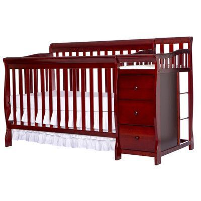 Dream On Me Brody 5 in 1 Convertible Crib Finish: Cherry