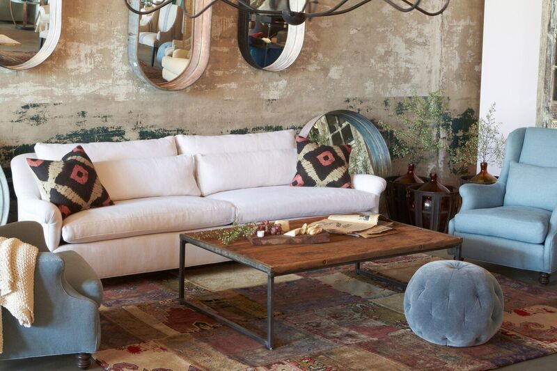 Leather Sofa Cisco Brothers Furniture Genevieve Sofa Made from Organic u Sustainable Sources and crafted with natural latex organic wool organic goose feathers