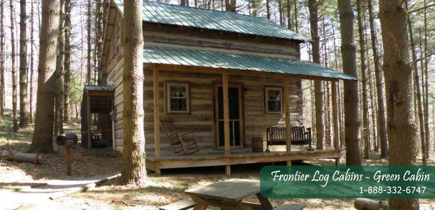 Hockinghillslogcabins Com Green Cabin Log Cabin Cabin Hocking Hills Cabins