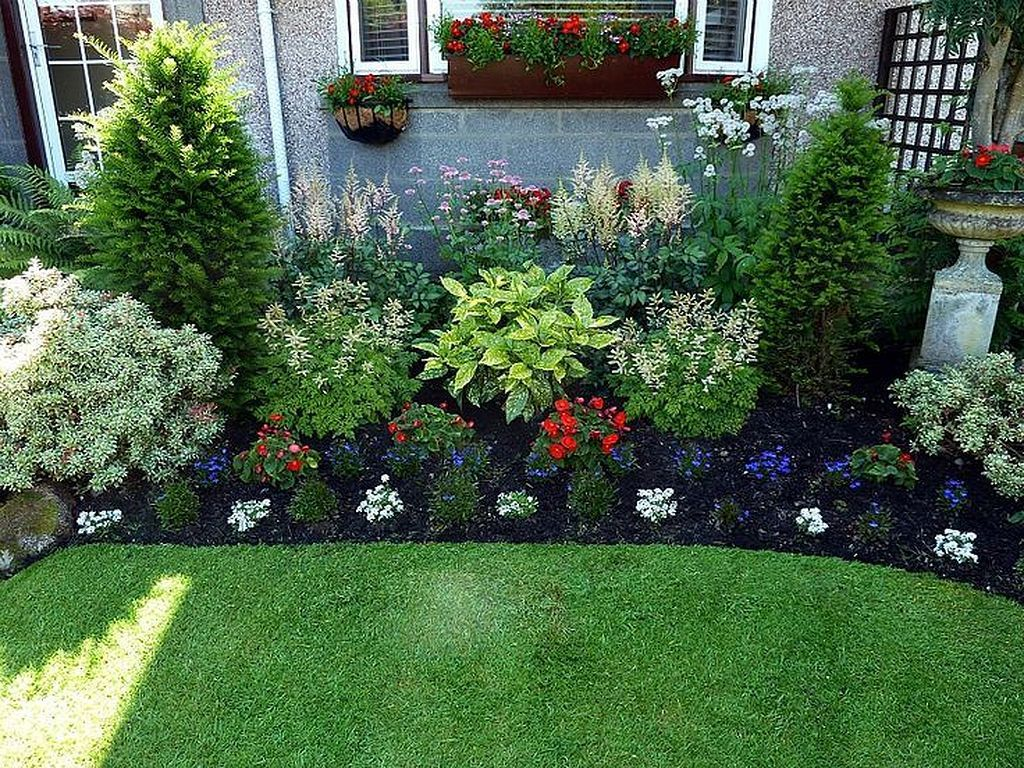 front yard landscape design on Cheap And Easy Flower Garden Ideas Front Garden Landscape Front Yard Landscaping Design Front Yard Garden