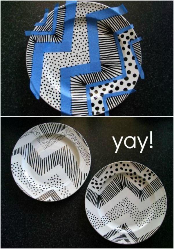 Toll, um Keramikplatten mit Markern zu dekorieren - Edna Ballance