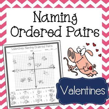 Valentine's Day Math Activity Naming Ordered Pairs Worksheet ...