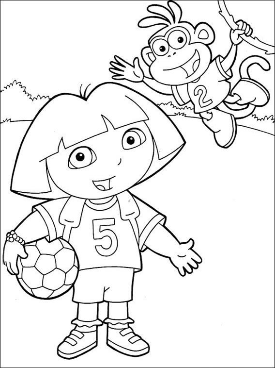 Dora The Explorer Coloring Pages 166 Coloring Books Coloring Games For Kids Dora The Explorer