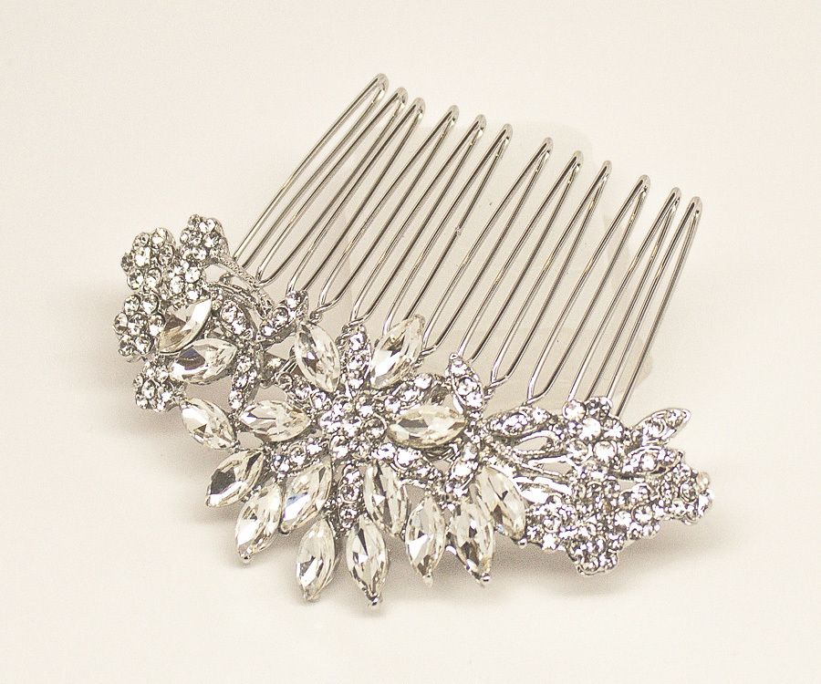 "Hair Comes the Bride - Small Rhinestone Bridal Hair Comb ~ ""Rohanita"", $38.00 (http://www.haircomesthebride.com/small-rhinestone-bridal-hair-comb-rohanita/)"