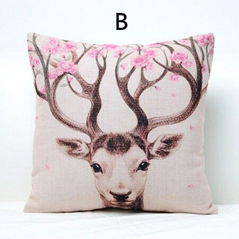 Adorable Animal Cat Throw Pillows For Sale Online, As Well As Deer, Zebra,  Birds Of Styles To Choose From. Hand Painted Style Deer Sofa Cushions For  Rustic ...