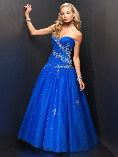 cheap Blue Prom Dresses, Cheap Designer Blue Prom Dresses For Sale ...