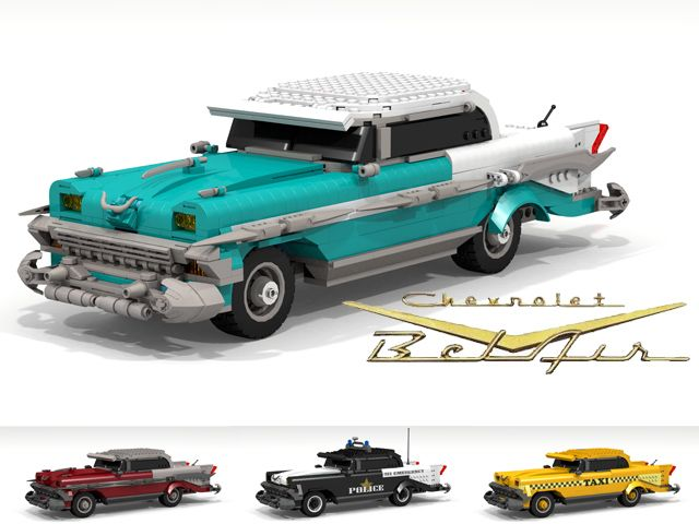 Chevrolet Bel Air Lego Cars Cool Lego Lego