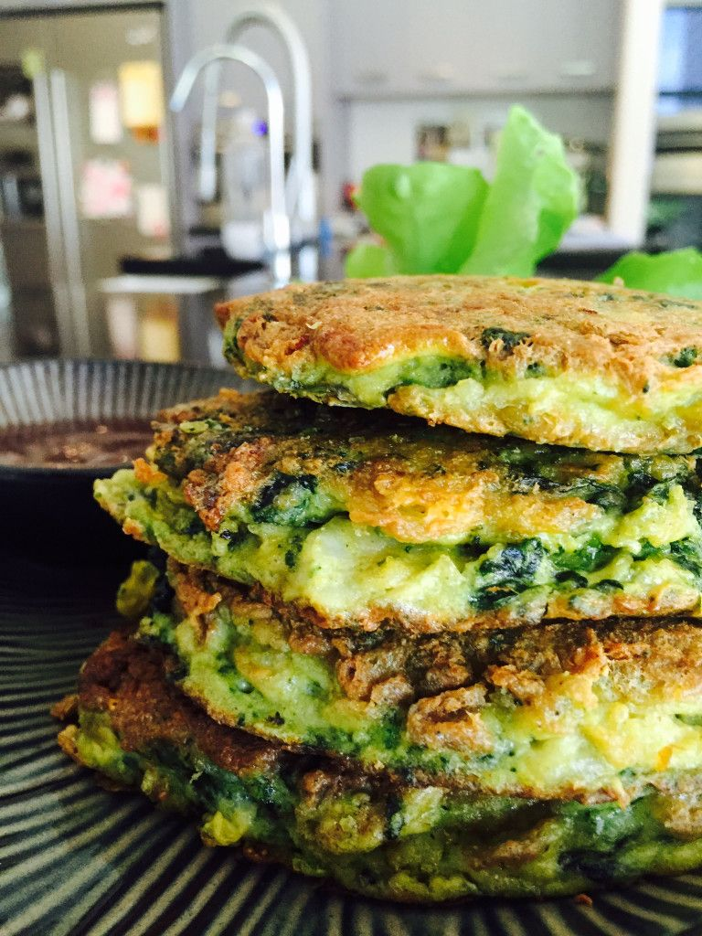 Super Simple Spinach Fish Cakes • domskitchen • These