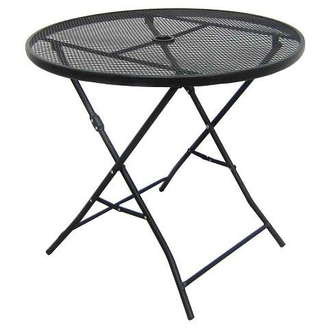 32 Metal mesh Folding tables and Patio table