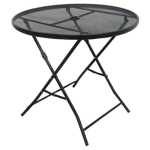 32 metal mesh folding patio table