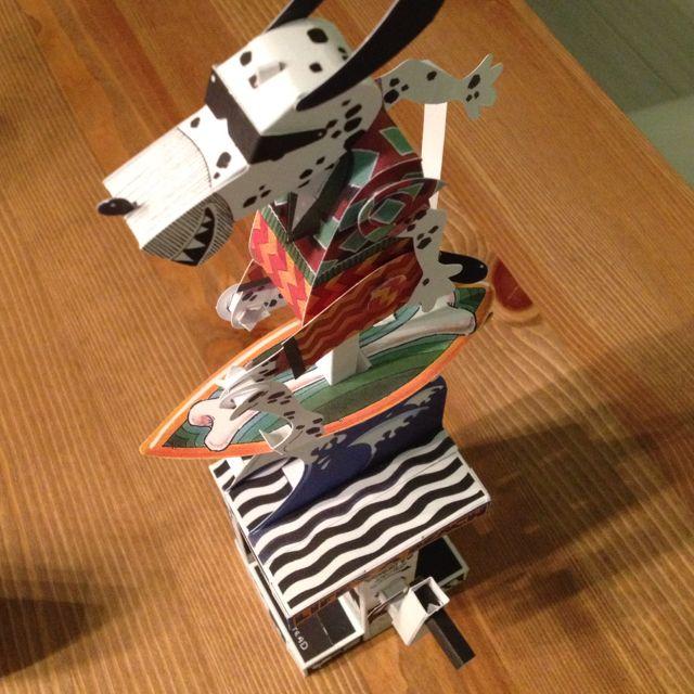 紙機械動件-衝浪狗