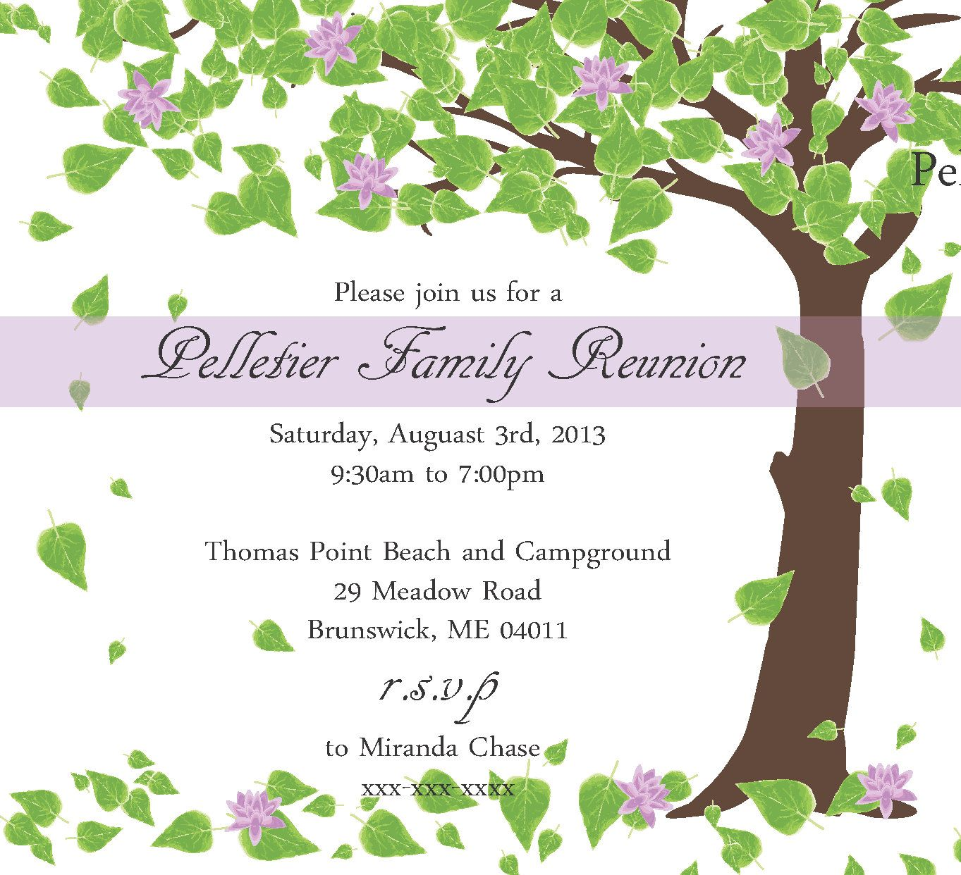 Family Reunion Invitation By Littlebopress On Etsy  Family