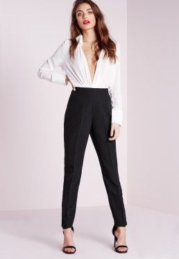 dde6bd8d3046 High Waisted Cigarette Trousers Black | Work It in 2019 | High ...
