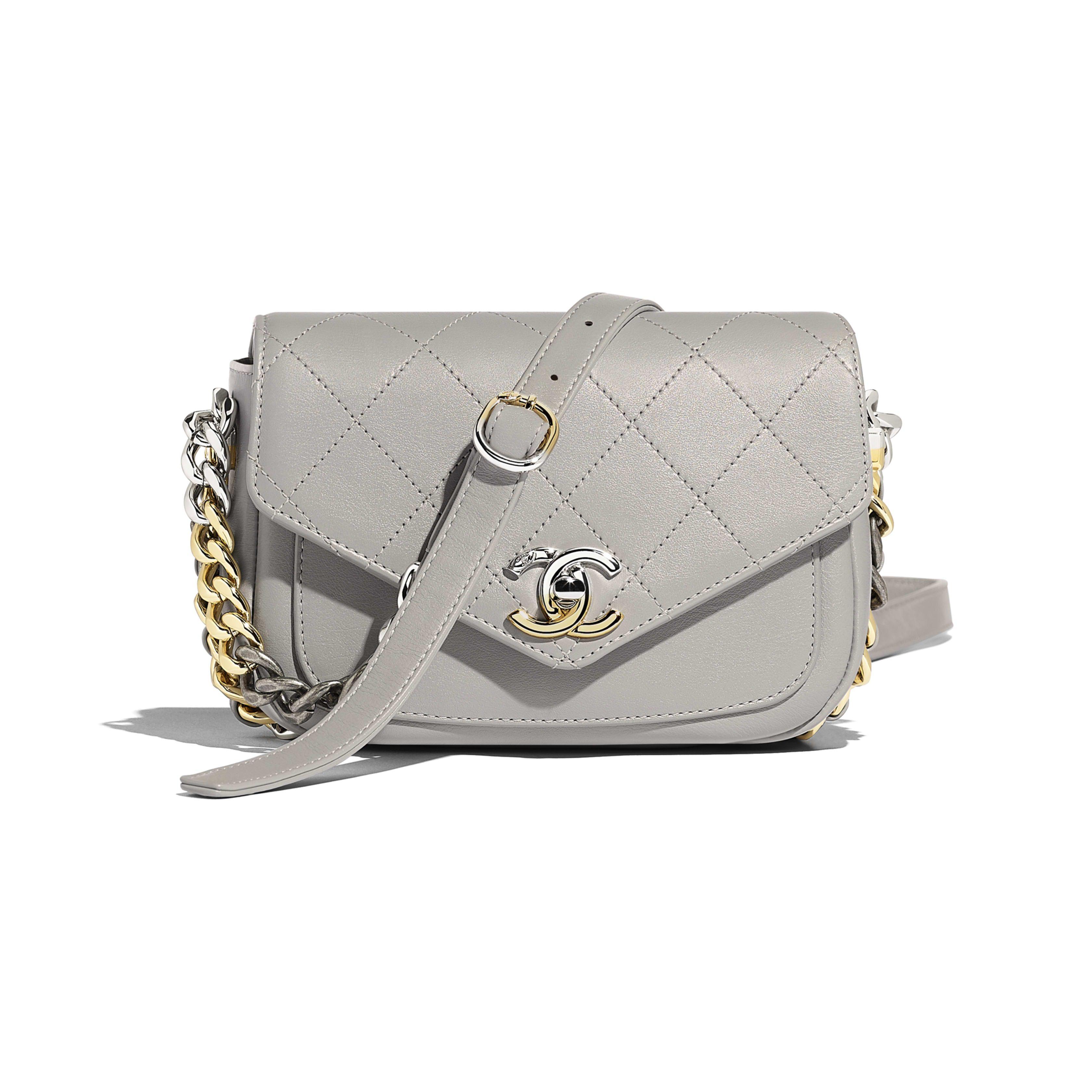 e119f48d7a Flap Bag - Gray - Calfskin