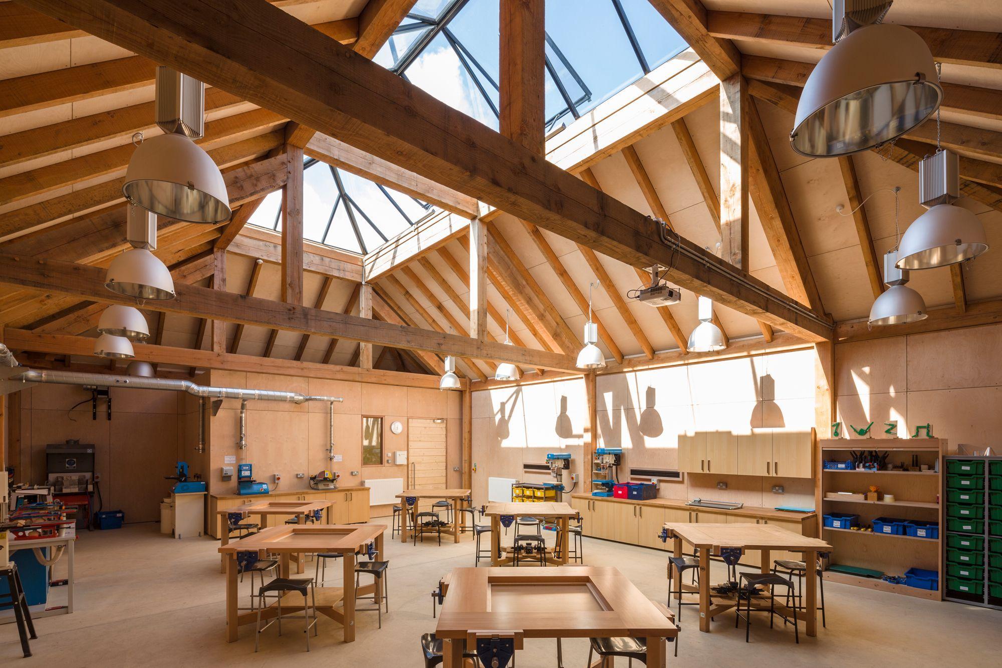 Foto ギャレガードナー Rustikale伝統werkstattbauにsudengland Wood Workshop Architecture In 2020 Workshop Architecture Traditional Building Timber Frame Building