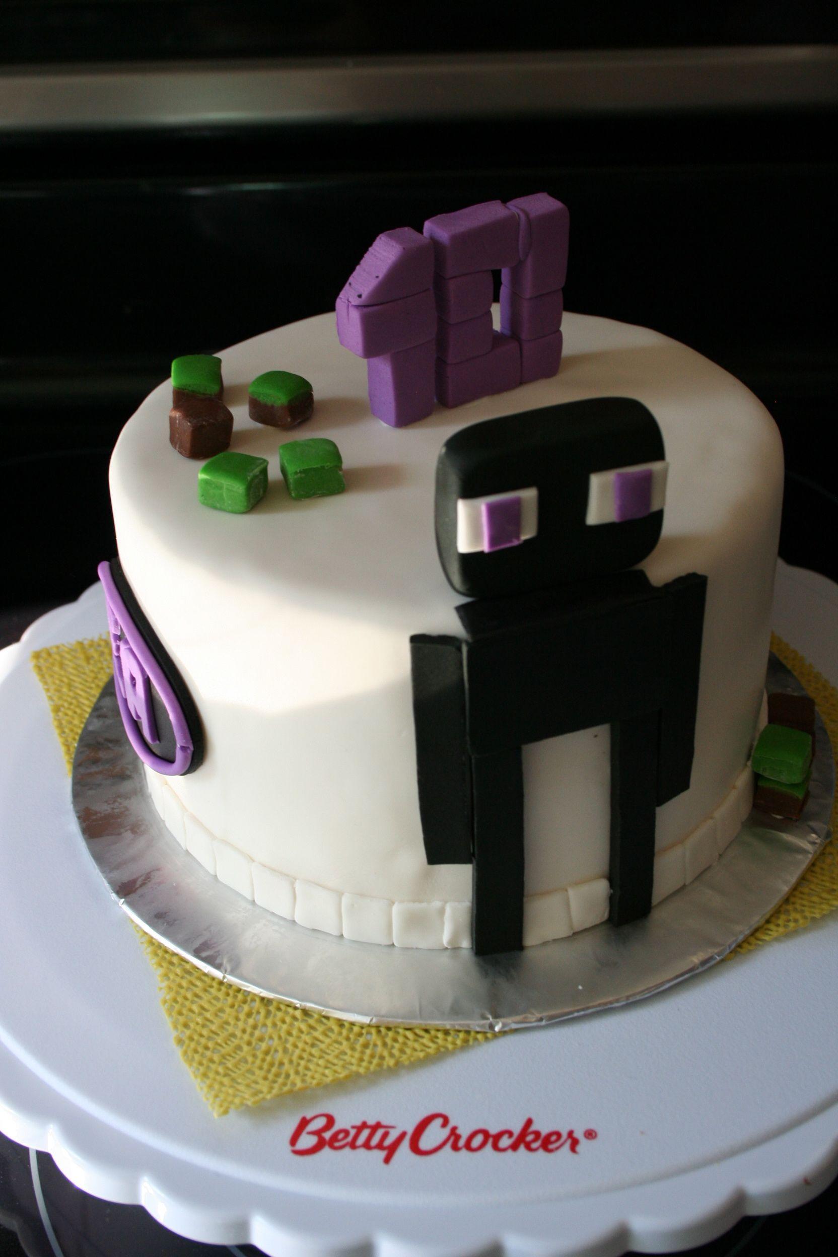Gateau Minecraft Enderman Enderman Minecraft Cake Minecraft
