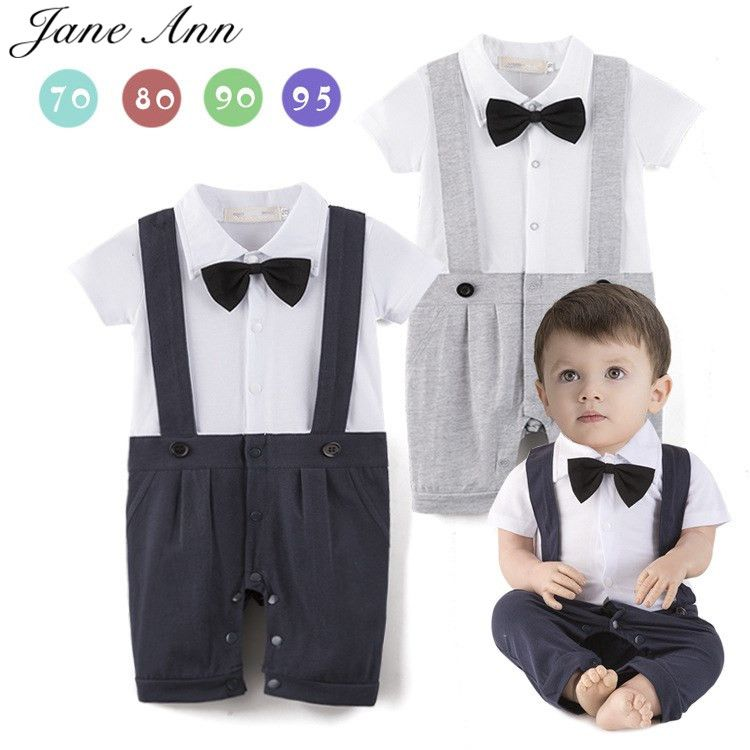 274d0f1b9 Click to Buy << Baby boy cotton outfit romper short sleeve blue and ...