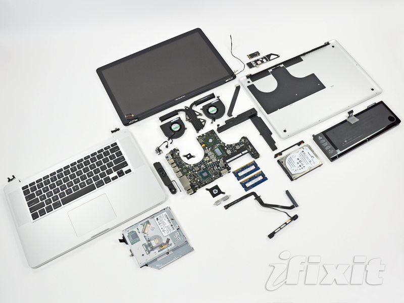 "The inside of a MacBook Pro 15"" unibody. My Style"