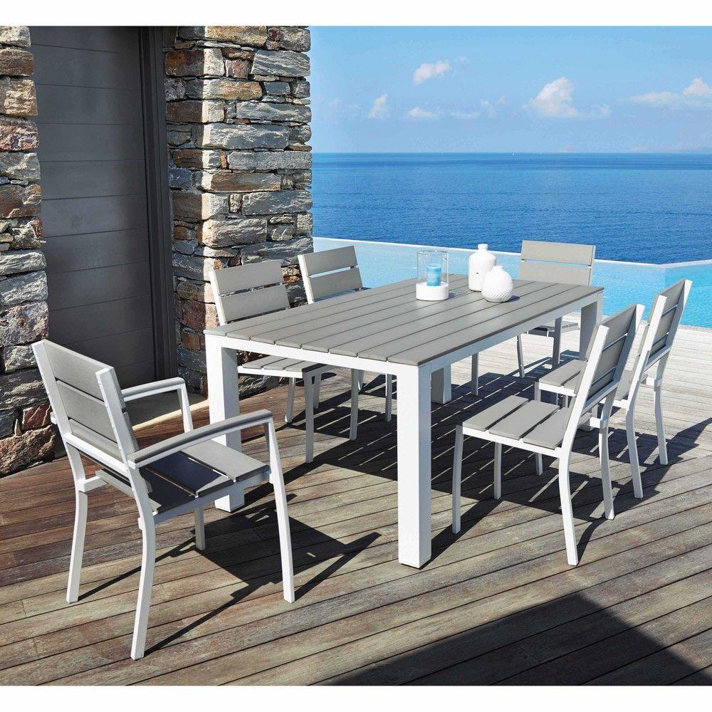 chaise de jardin en aluminium et composite salon jardin. Black Bedroom Furniture Sets. Home Design Ideas