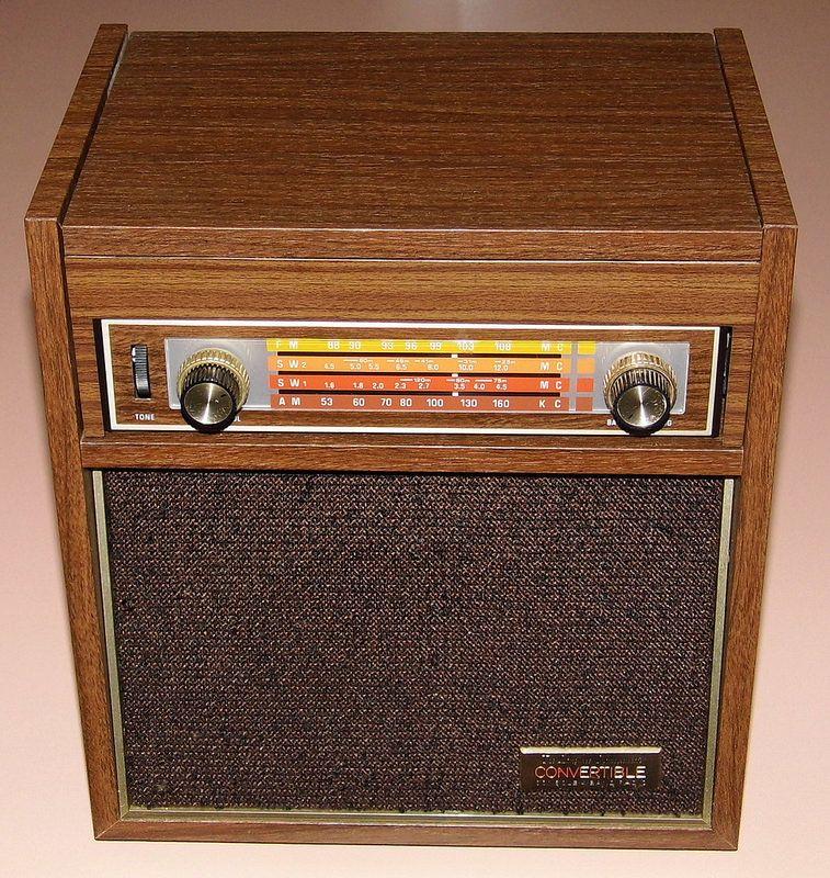 Vintage Longines Symphonette Convertible Console 4 Band