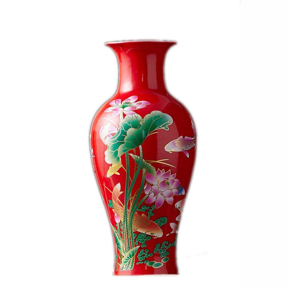 Big China Jingdezhen ceramic porcelain flower vase oriental style ...