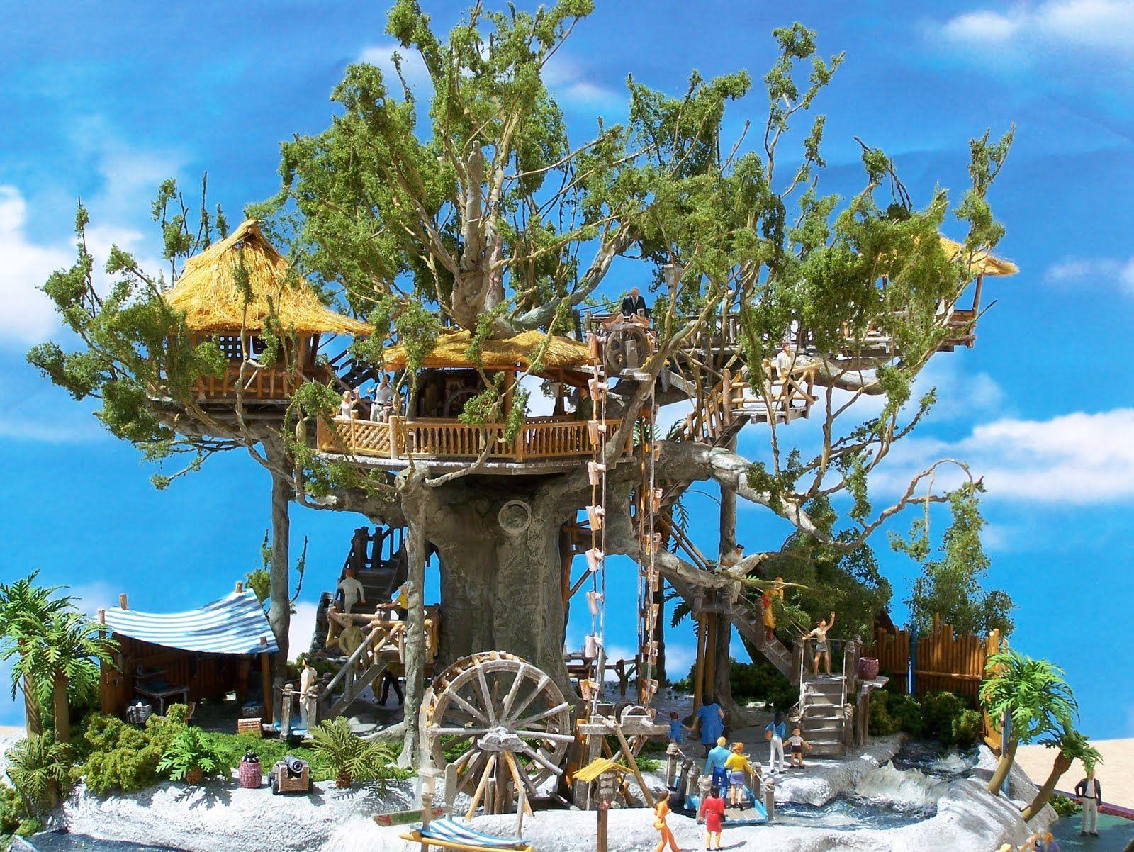 Swiss Family Robinson Treehouse Model Disneyland C