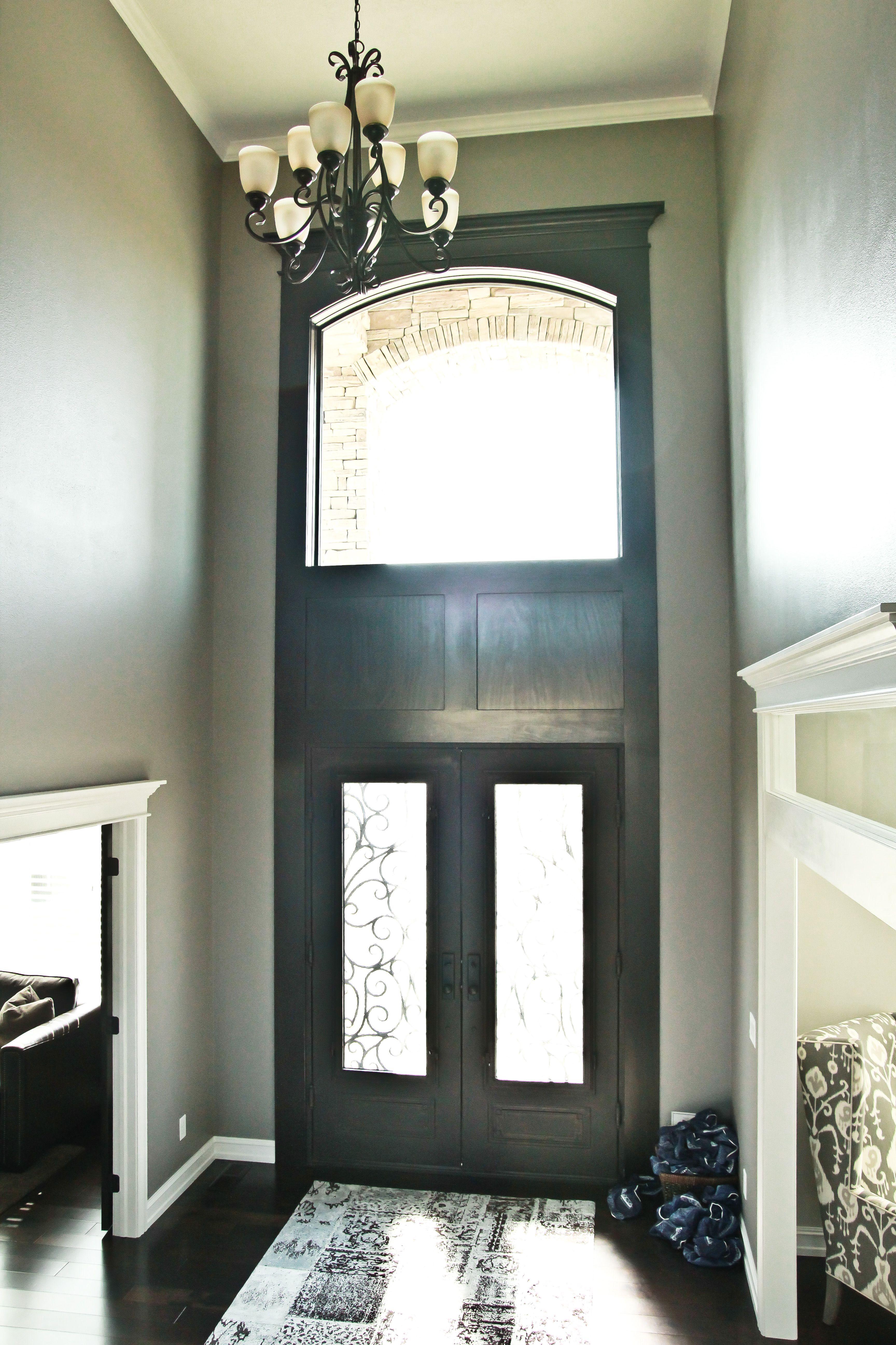 Foyer Lighting In A Foyer Window Above Door Entry