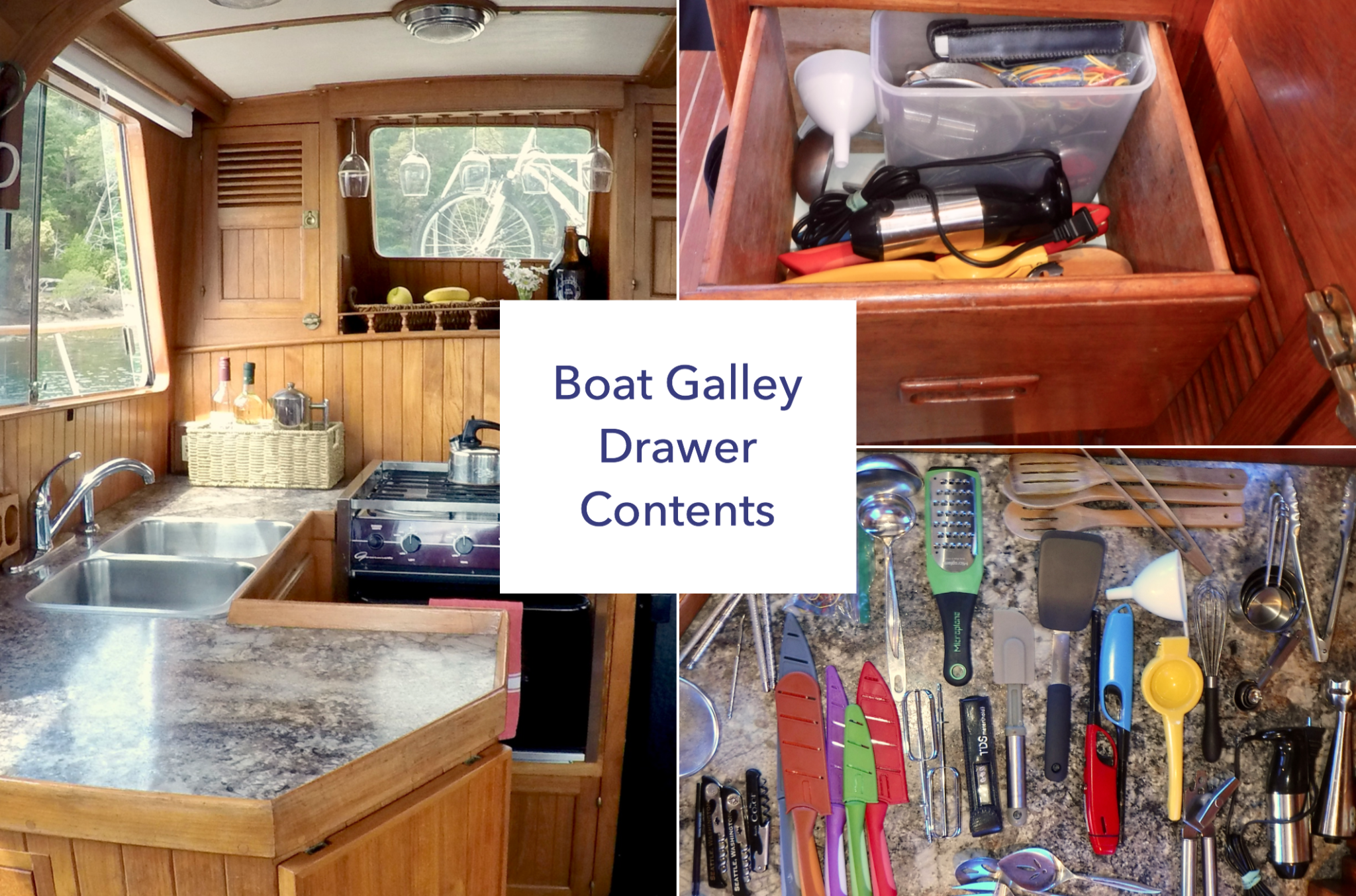 The Boat Galley Drawer Organization How Do You Store Gear And Gadgets In A Boat Galley How To Or Kitchen Drawer Organization Boat Galley Kitchen Design Decor