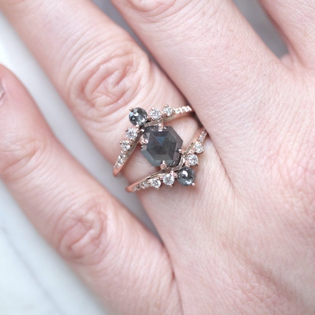 2 7 Carat Black Diamond Empress Engagement Ring Diamond Rings Engagement Rings