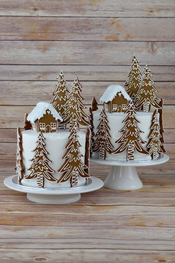 Photo of Gingerbread Forest House Christmas Cake by Blosso … – #Blosso #forest #forests …