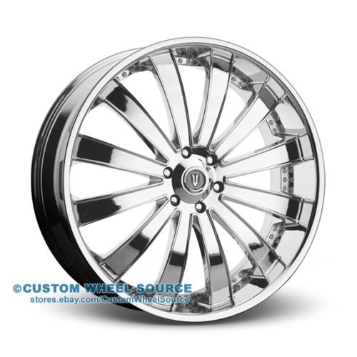 28 Versante 225 Chrome Wheel And Tire Package For Cadillac Chevy Chevrolet
