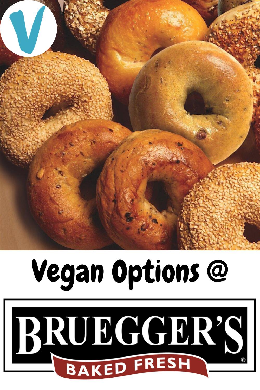 Vegan Options at Bruegger's Bagels (2020) in 2020 | Vegan ...