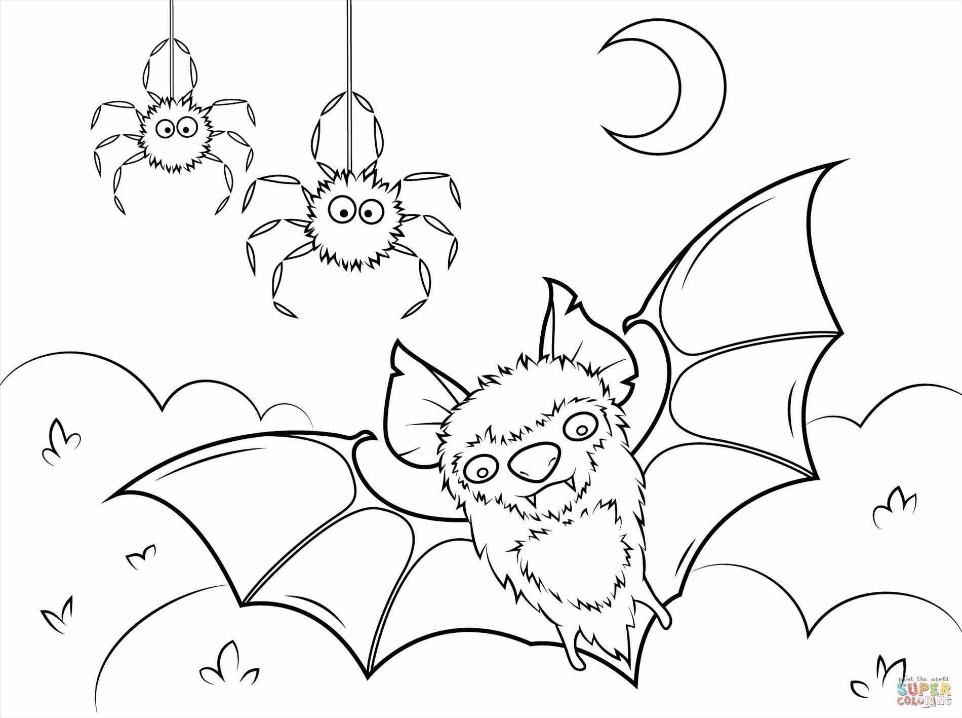 Halloween Spider Coloring Pages To Print
