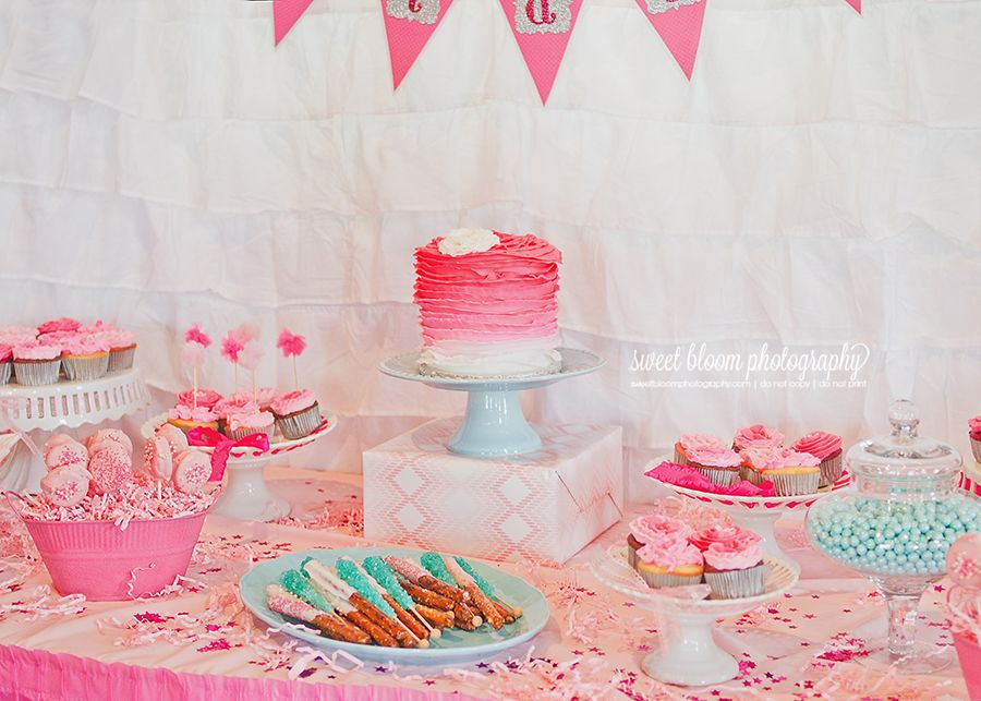 Dayton Ohio 1st Birthday Party Photographer Sweetbloomphotography Bridgets Pink Ombre 1stbirthday Pinkombre