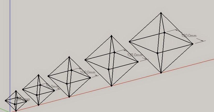 ヒンメリって基本形があって 正八面体の組み合わせのバリエーション ...