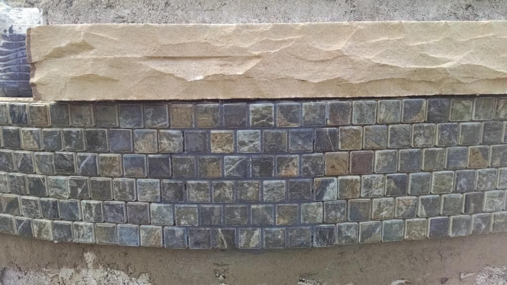Mosaic waterline tiles for sale google search pool refurb ideas pinterest pool houses - Basics mosaic tiles patios ...
