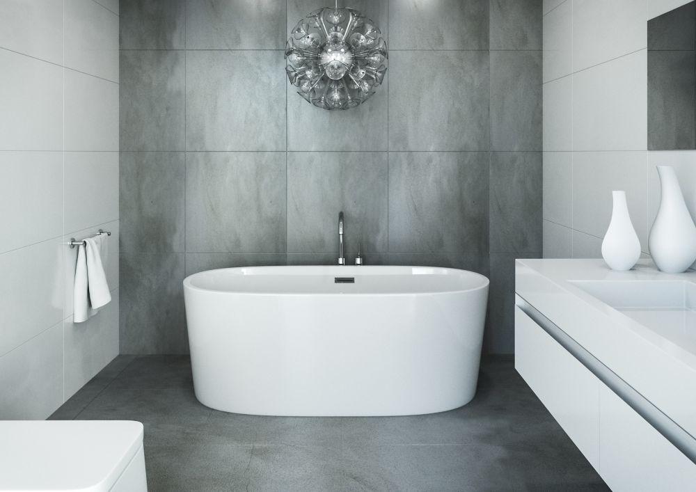Ilusa 5 Feet Acrylic Fibreglass Freestanding Bathtub Free