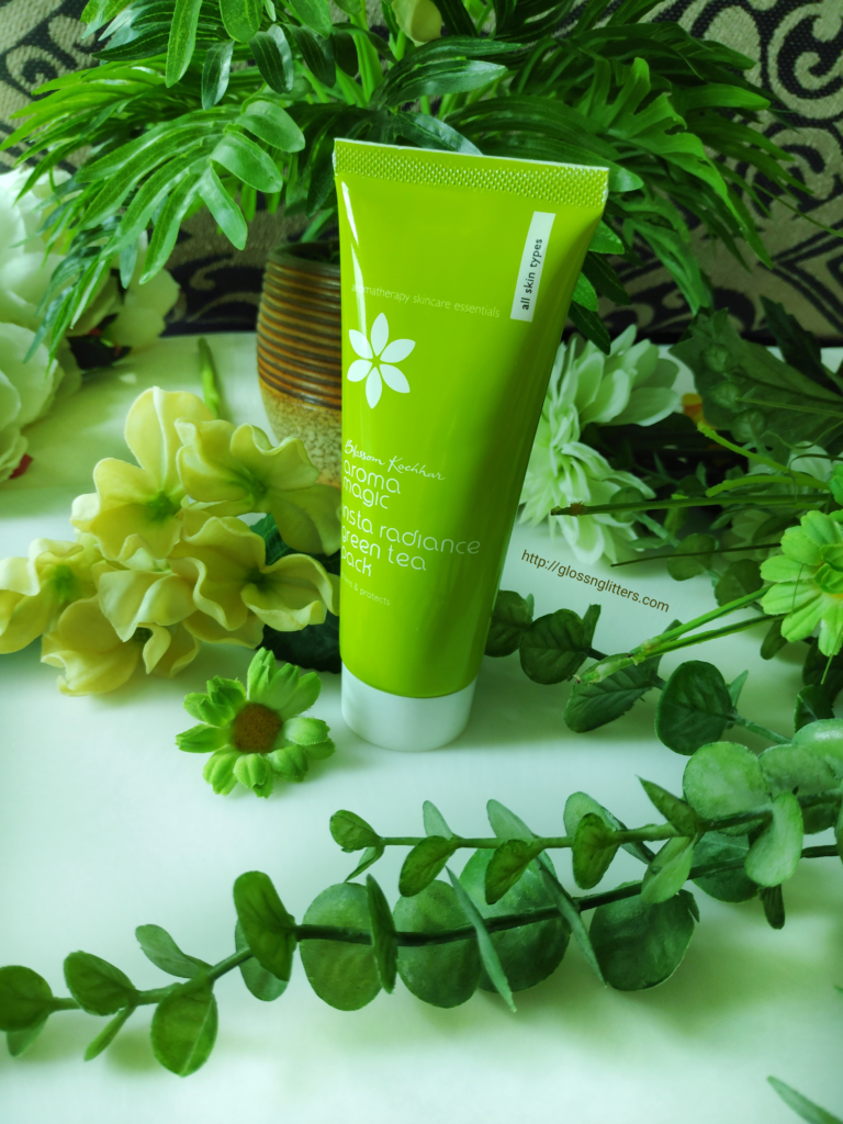 Aroma Magic Insta Radiance Green Tea Pack Review Glossnglitters In 2020 Skin Care Green Tea Radiance