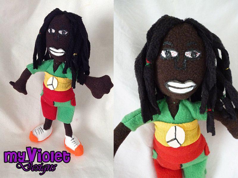 Rastafari inspirado de un dibujo de un niño. myvioletdesigns.com