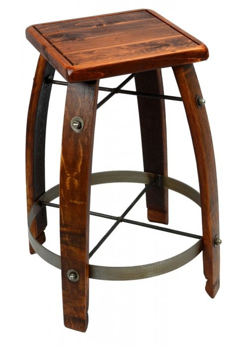 This Stool Is Made From Reclaimed Wine Barrels Making Each One
