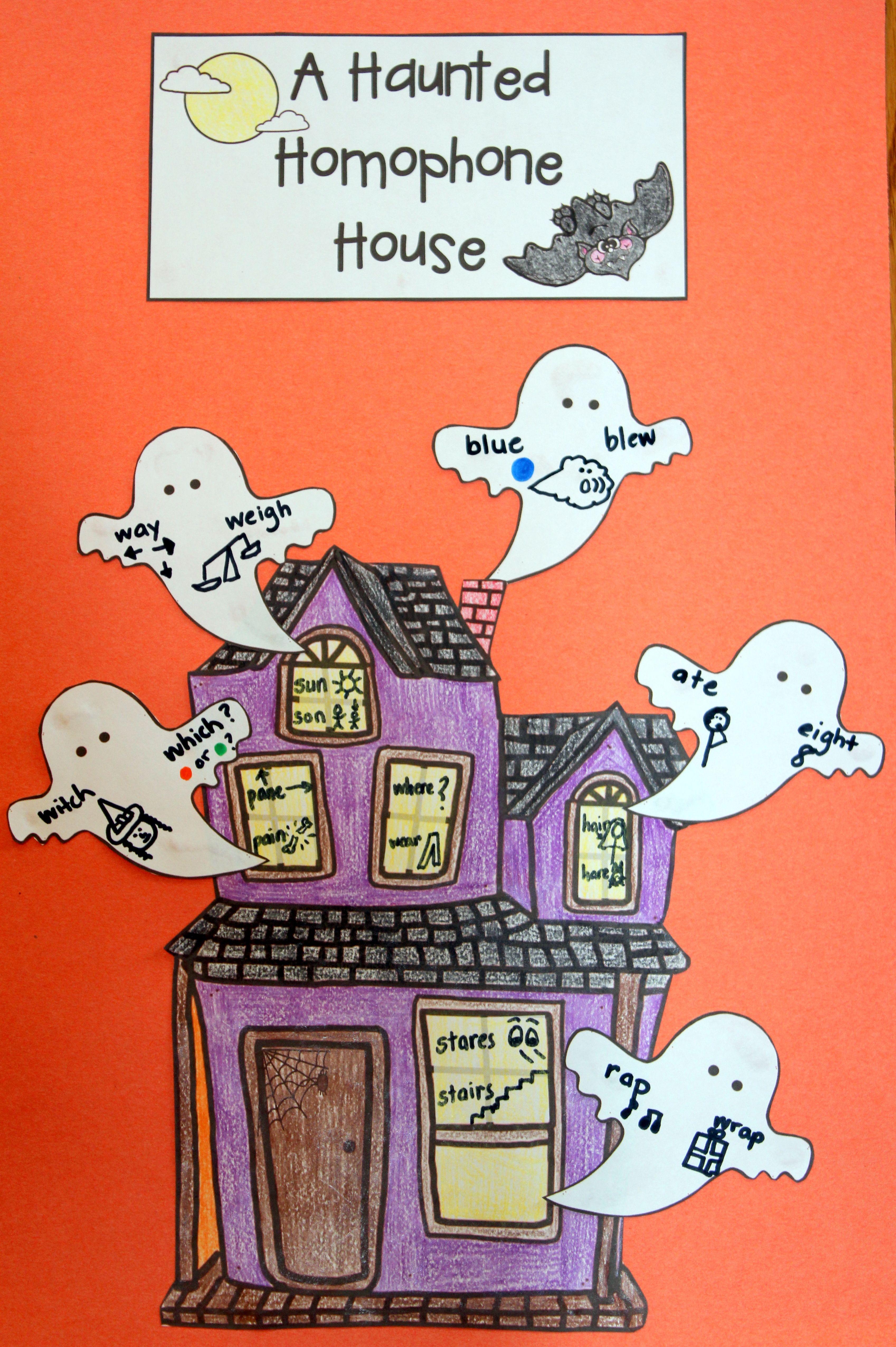 Homophone Craftivity For Halloween