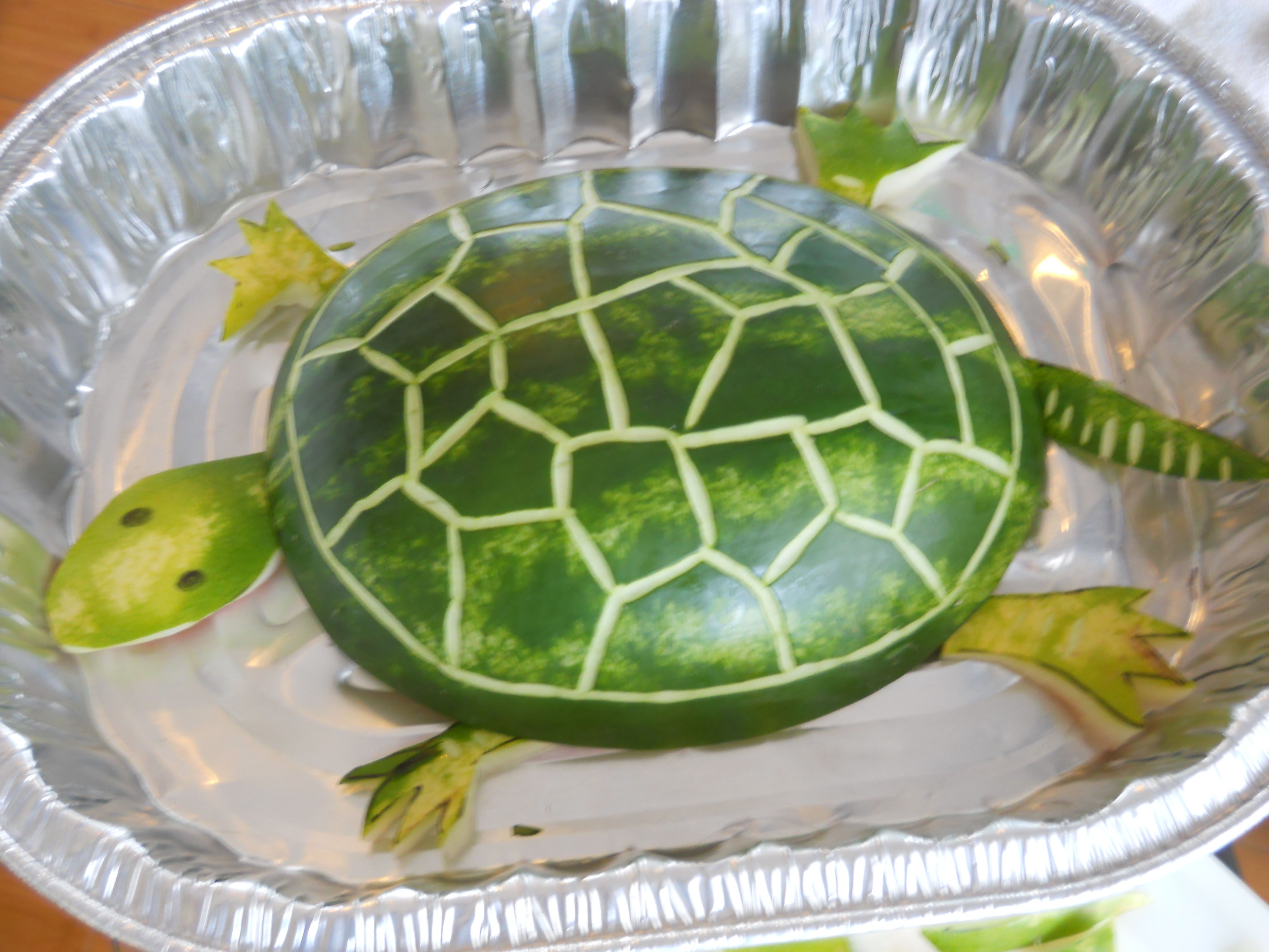 Watermelon Carved Turtle!!
