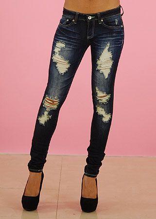 bigchipz.com dark-washed-skinny-jeans-06 #skinnyjeans | Jeans ...