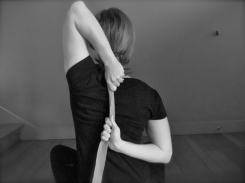 cow's head arms — yoga posture for today  arm yoga yoga