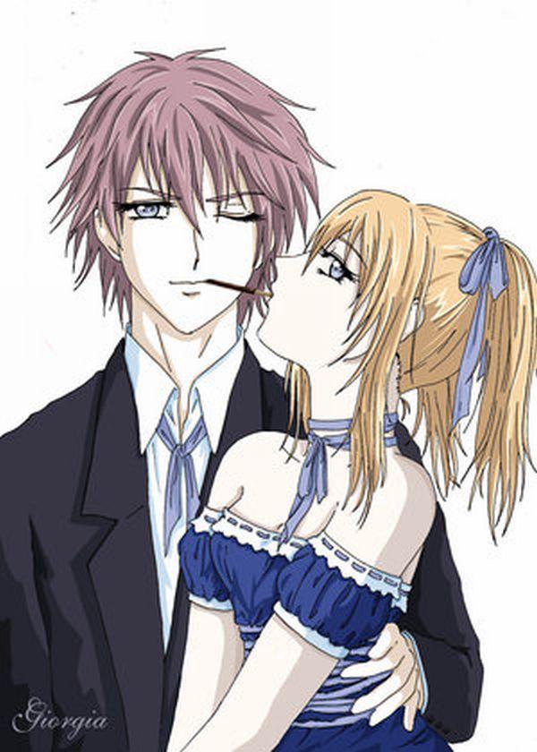 POCKYYYYYYY!!!!! Shiki and Rima sharing a pocky. Vampire Knight ...