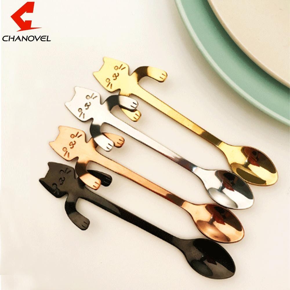 Tools Stainless Steel Coffee Spoon Candy Teaspoon Tableware Kitchen Supplies