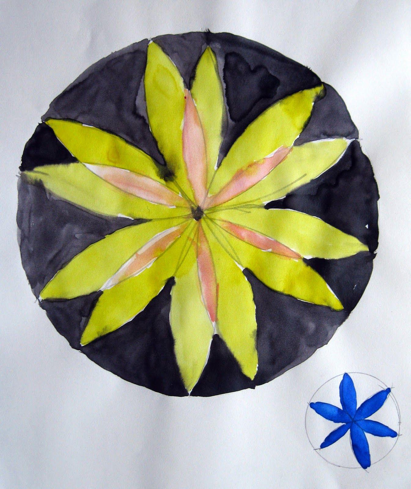 Art Class Ideas Drawing A Flower In