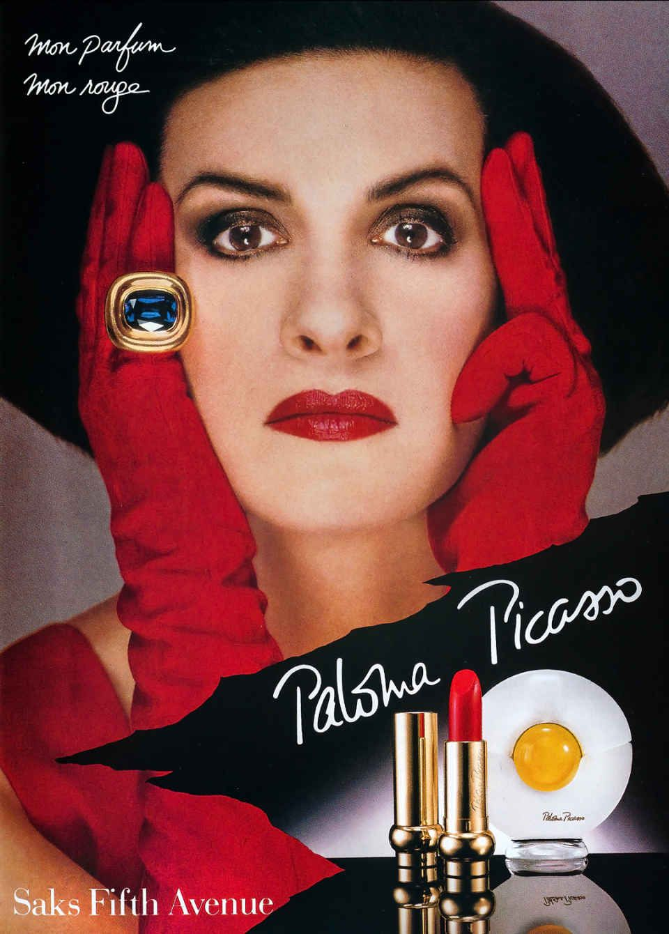Paloma Picasso Paloma Picasso In A Magazine Ad For Her Eponymous Fragrance And