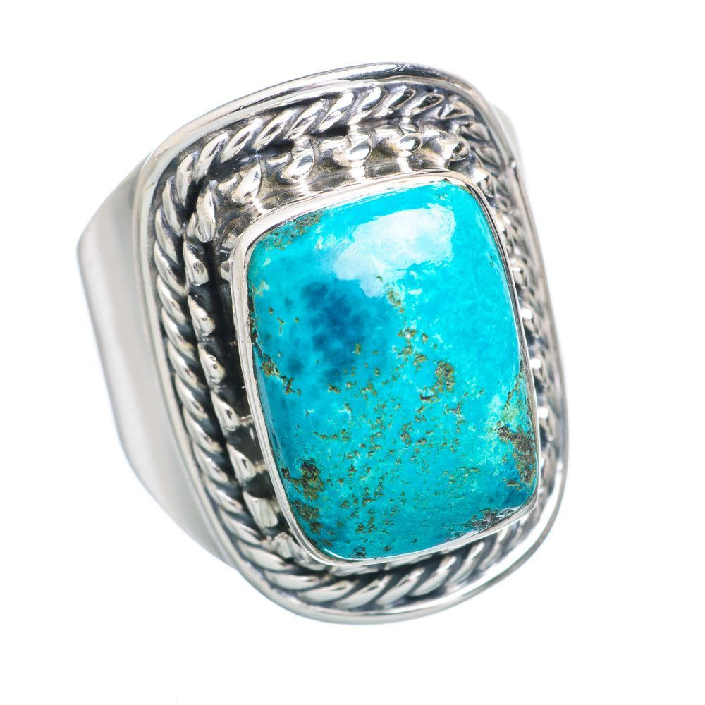 Chrysocolla 925 Sterling Silver Ring Size 6.25 RING731759