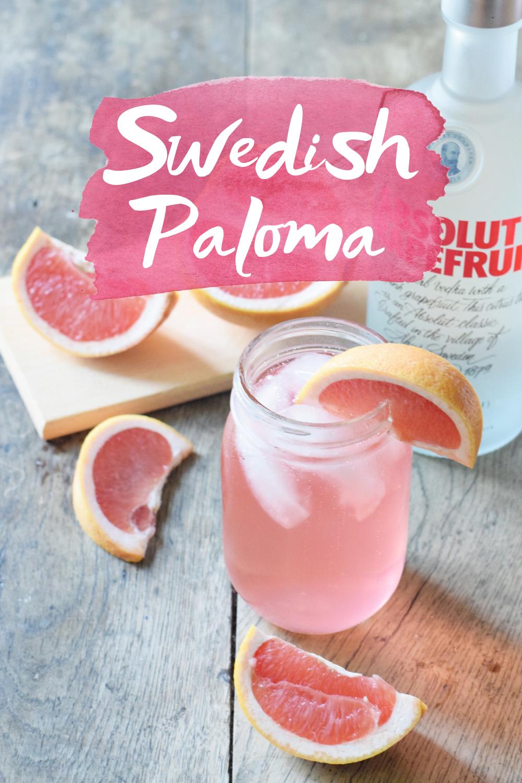 Swedish Paloma Grapefruit Cocktail
